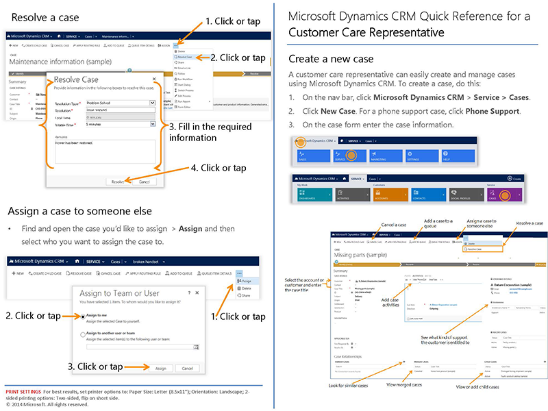 microsoft dynamics crm service, customer care